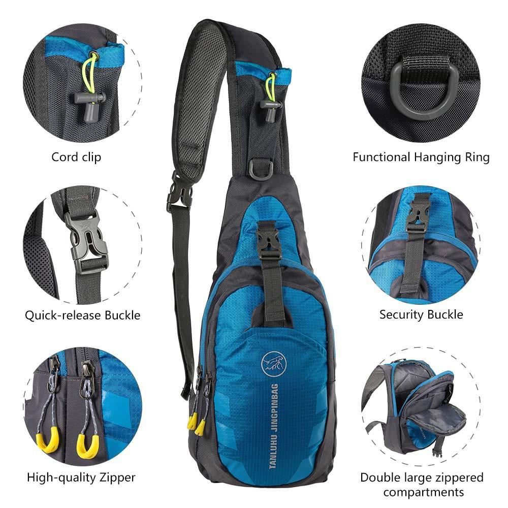 男士女士的徒步活動露營旅遊胸包單肩包