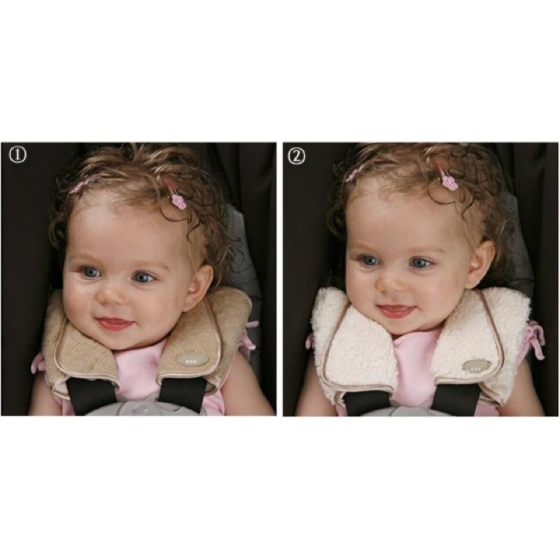 ♞嬰樂♘美國JJ cole 寶寶手推車汽車座椅提藍安全帶護肩套肩部皮膚保護套口水墊雙面用