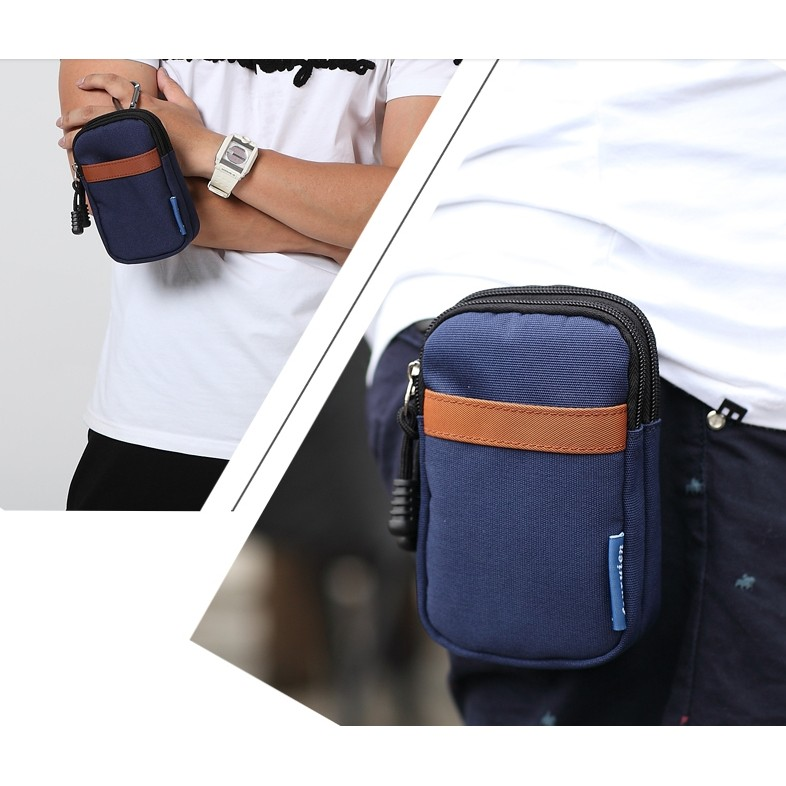5 5 寸6 寸手機包男士腰包穿皮帶迷你小包男休閒包掛包鑰匙包