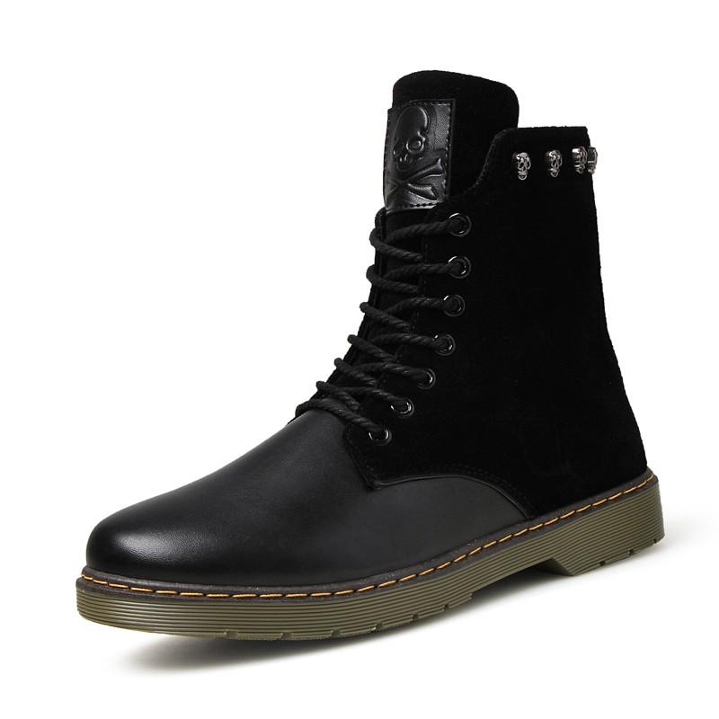 馬丁靴軍靴英倫風男士 鞋潮男皮靴短靴高幫男靴子增高皮鞋