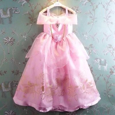 睡美人女 粉紅色公主禮服洋裝表演服萬聖節