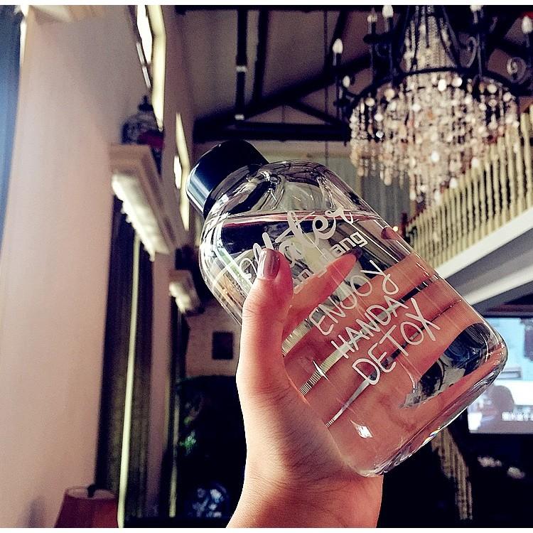 韓國 文青pongdang water 塑膠款水杯600ml 買就送同款麻布杯袋隨行杯隨手
