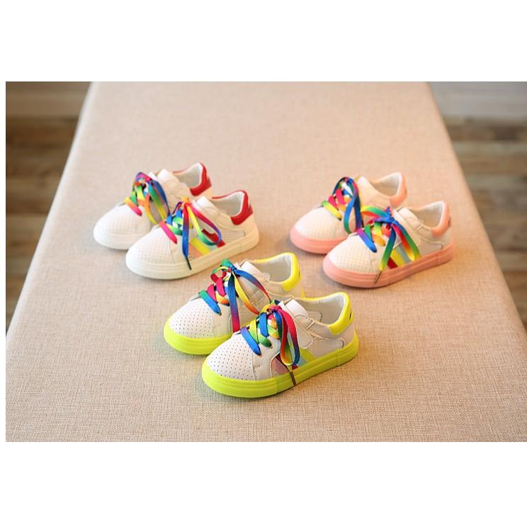 春 兒童 網鞋女童小白鞋透氣男童板鞋彩虹鞋休閒鞋爆款