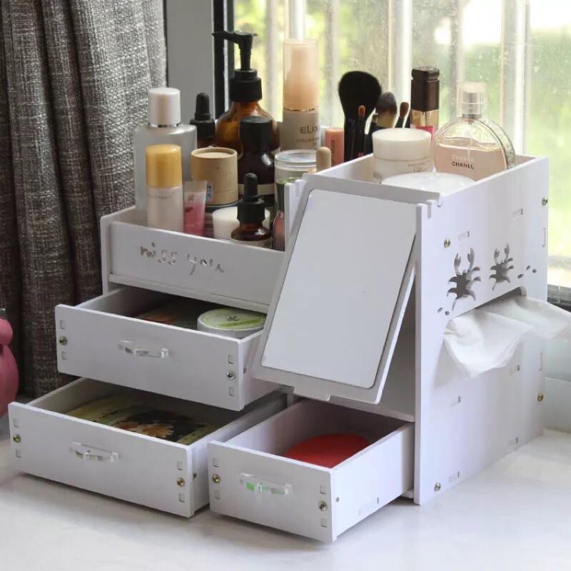 DIY 雕花鏤空桌面收納櫃(夏日沙灘3 抽大款)