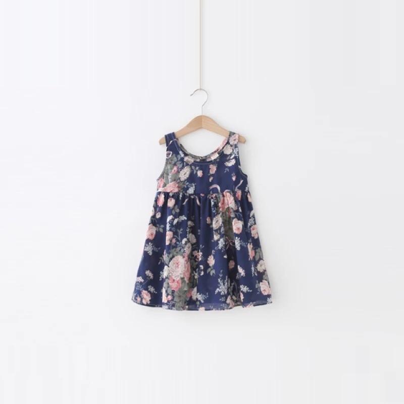 女童夏裝印花背心裙兒童女寶寶無袖連衣裙