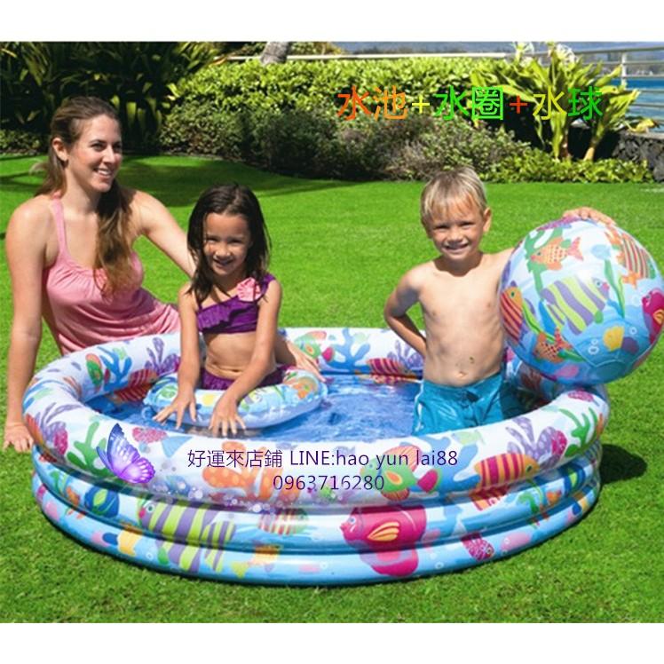 好運來you 16888 店 正品INTEX 戲水池充氣家庭游泳池兒童海洋球池沙池