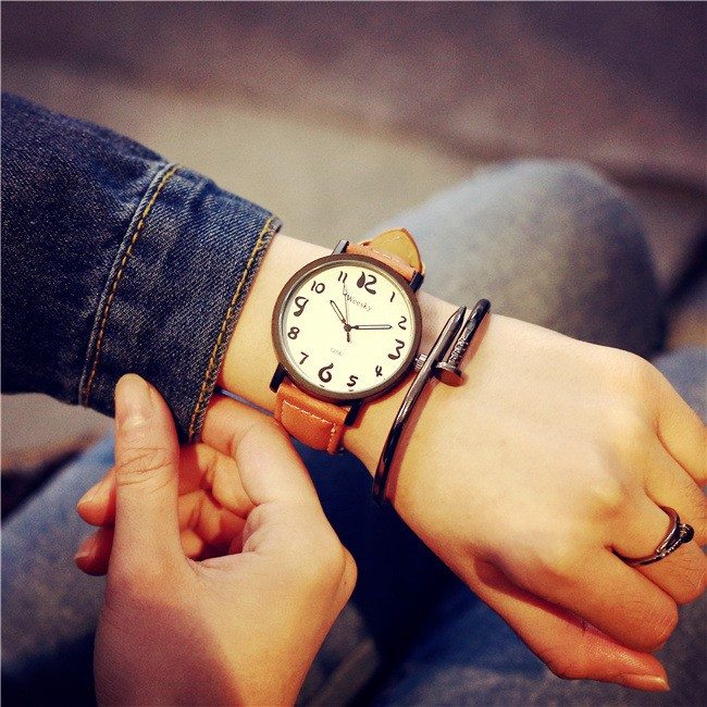 韓國 潮流中學生潮表原宿復古簡約休閒潮男錶女錶手錶閨蜜