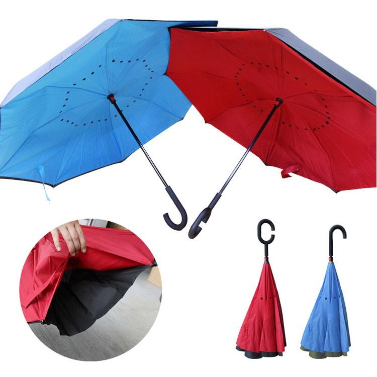無法超取可宅配貨到 彎把反向傘~抗UV110CM 傘面反向傘~自動傘雨傘晴雨傘兩用傘彎把傘