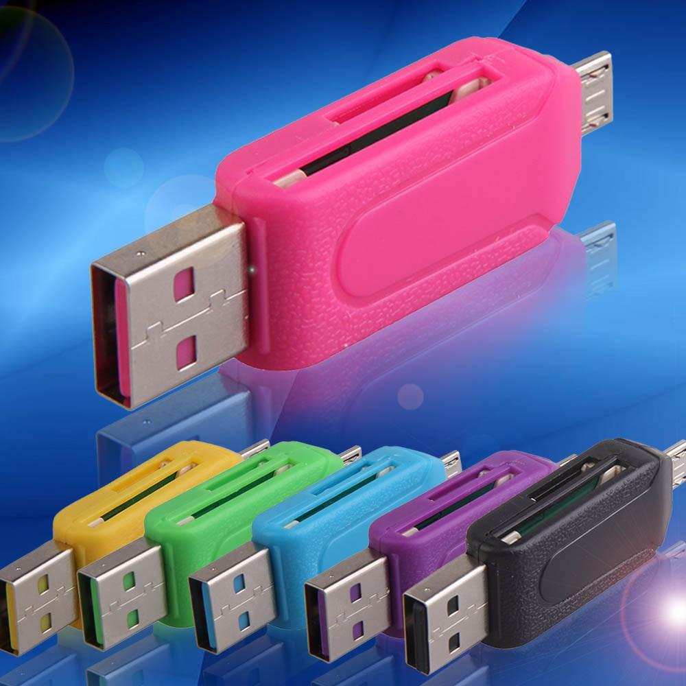 2 合1 雙USB 插頭OTG SD TF 讀卡器