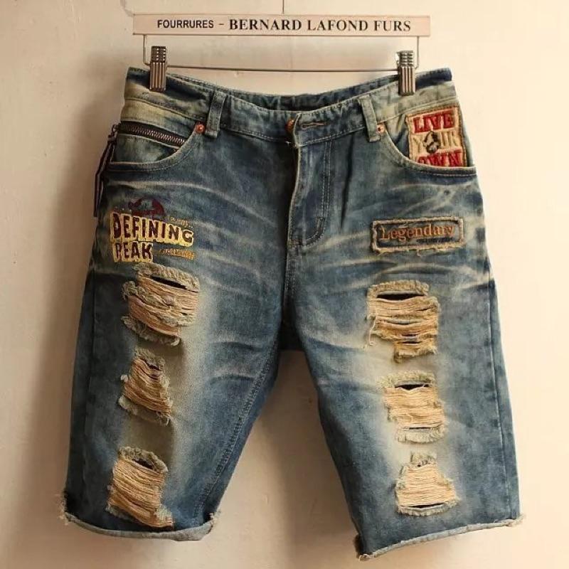 牛仔短褲✅刷破破壞刀割貼布徽章勳章Levi s