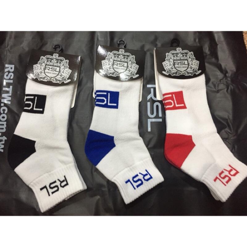 (羽球世家)英國品牌RSL 羽球踝襪白襪中筒襪尺寸腳cm 尺寸符合 以穿