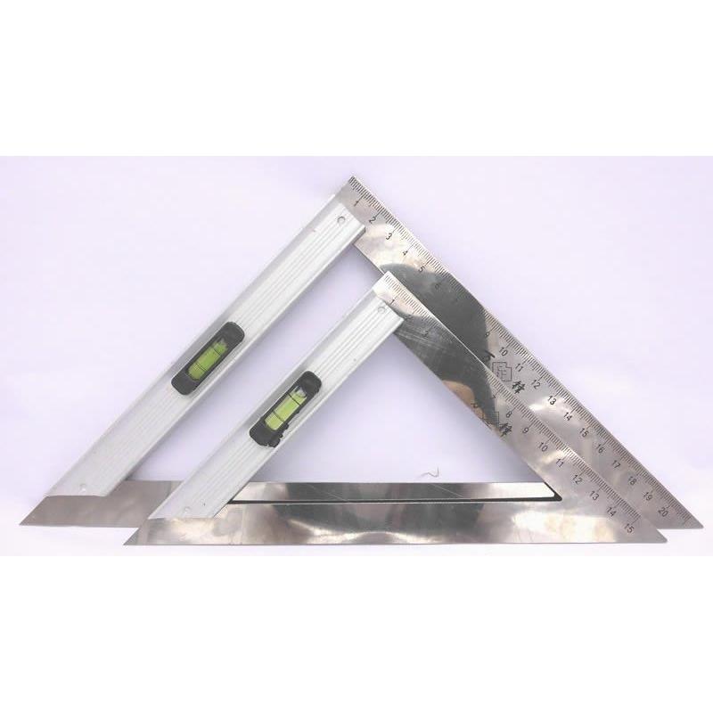 鋁合金座不鏽鋼帶水平儀三角尺木工尺角度尺角尺6 寸8 寸
