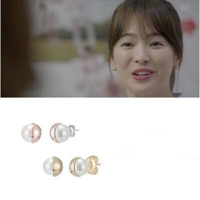韓劇太陽的後裔宋慧喬同款雙面珍珠耳針