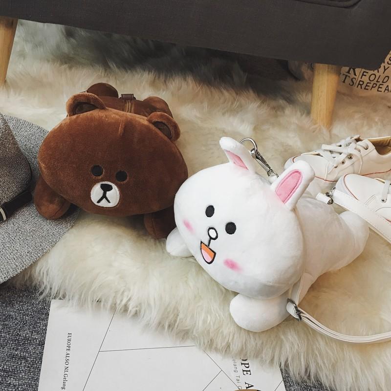 2016 卡通小兔子小熊包包  玩偶小包單肩包女包斜挎包