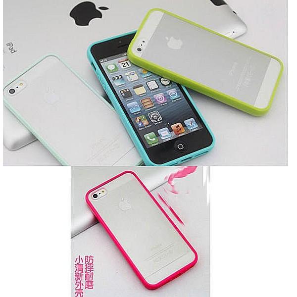 小清新磨砂透明矽膠iphone4S 手機套iphone4 手機殼蘋果5 外殼iphone5