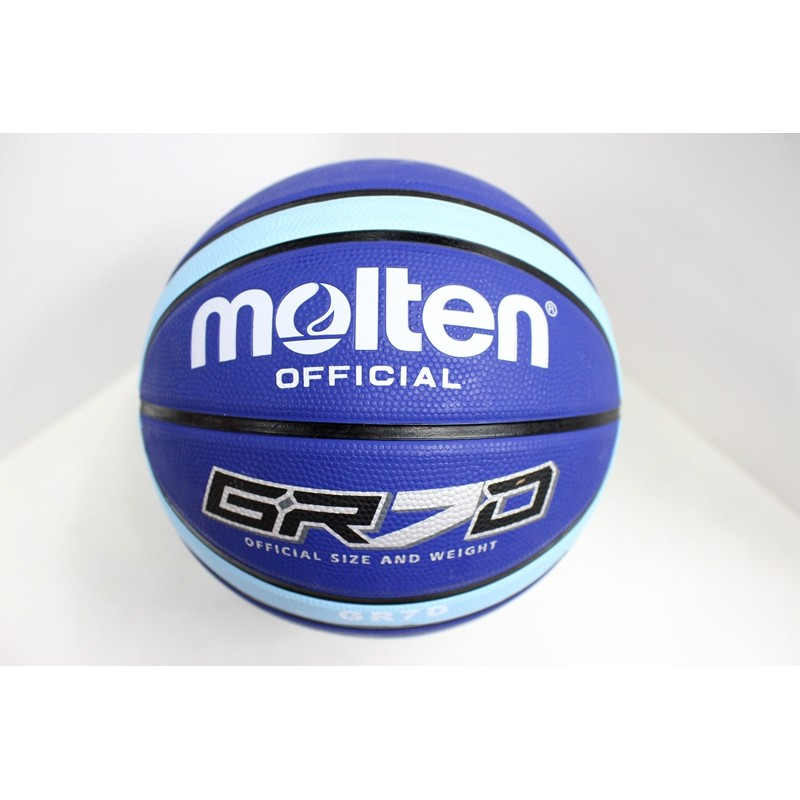 MOLTEN 12 片橡膠深溝BGR7D LBB GR7D 7 號籃球室外橡膠籃球寶藍