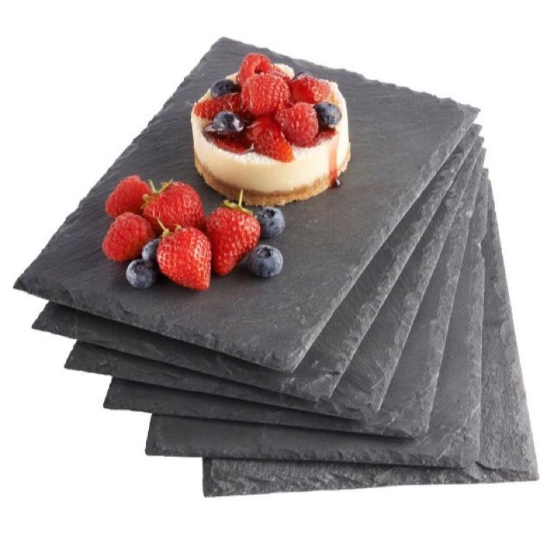 lala shop slate plate 石盤岩盤石板岩板餐盤起司盤點心盤長款方形圓形雲