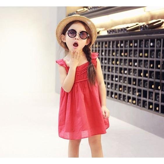 韓國小飛袖純色洋裝連身裙FG59