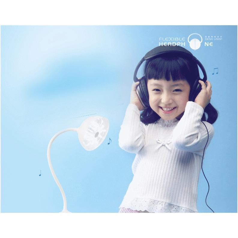 百變耳機檯燈耳機充電檯燈學生LED 小檯燈床頭燈護眼燈 檯燈智能觸摸感應檯燈