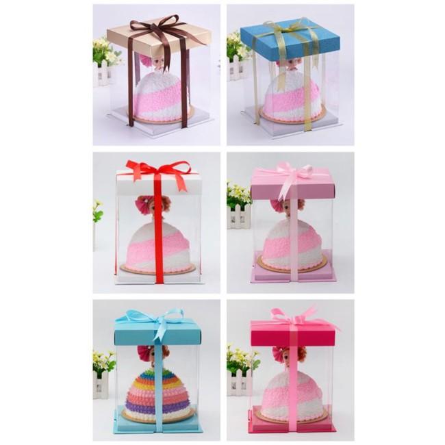 愛廚房8 吋加高翻糖盒無附圖上緞帶及娃娃包裝透明盒I Kitchen