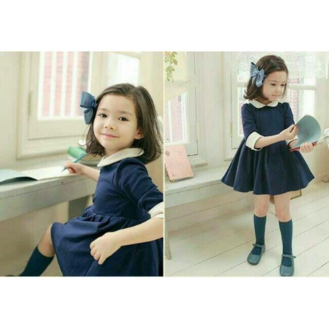 9 11 13 15 碼♡氣質藍款小洋裝