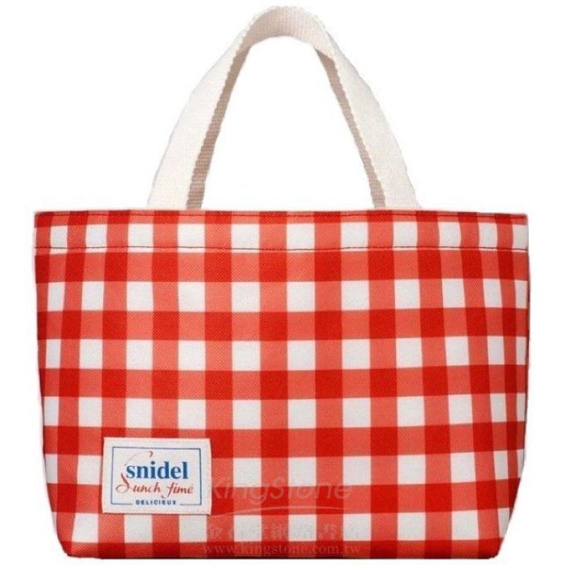 P C Shop 日雜MORE 附錄~snidel 紅白格紋保冷袋午餐袋媽媽包奶瓶包束口袋