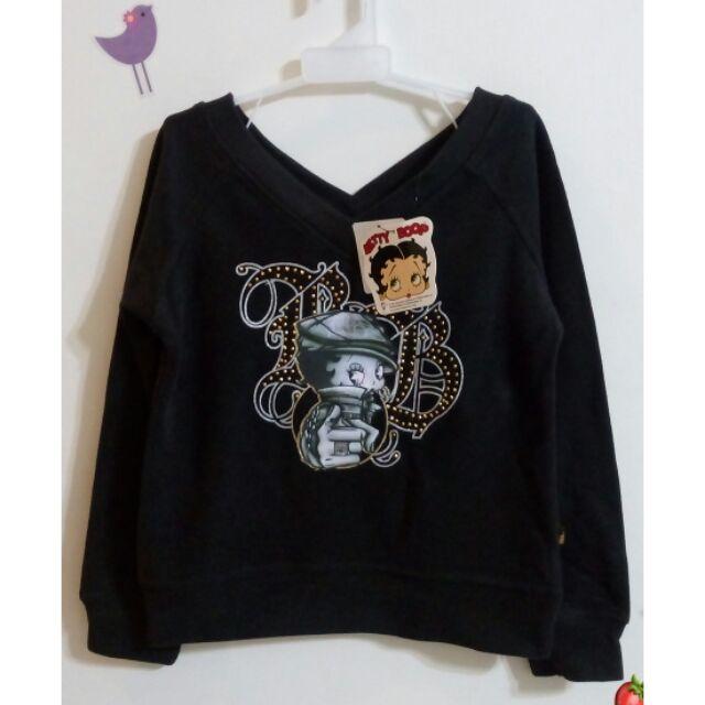 加 專櫃Betty Boop 貝蒂女童黑色厚棉上衣