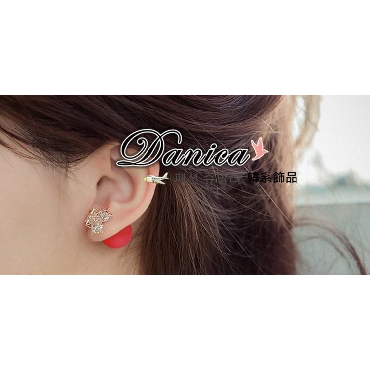 ❤耳環❤韓國氣質甜美女神款簍空五角星星橡皮雙面2 用水晶耳環6 色K90734 價Dani