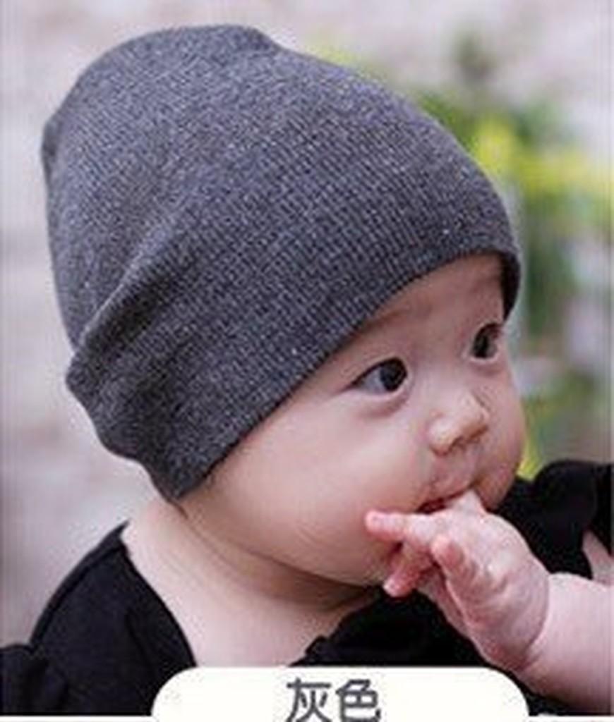HM 嬰幼館~Q371 ~2015 日韓 男女寶寶兒童四季百搭糖果色針織套頭帽6M 3 歲