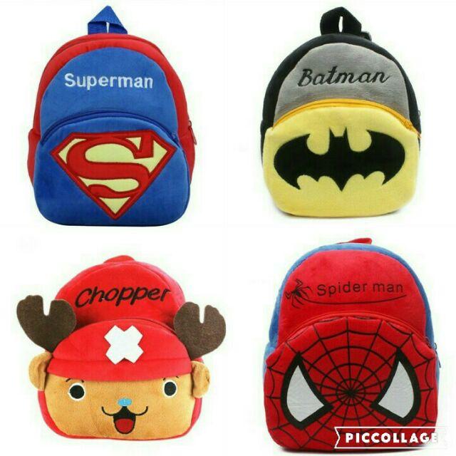 超可愛 絨布卡通兒童包包