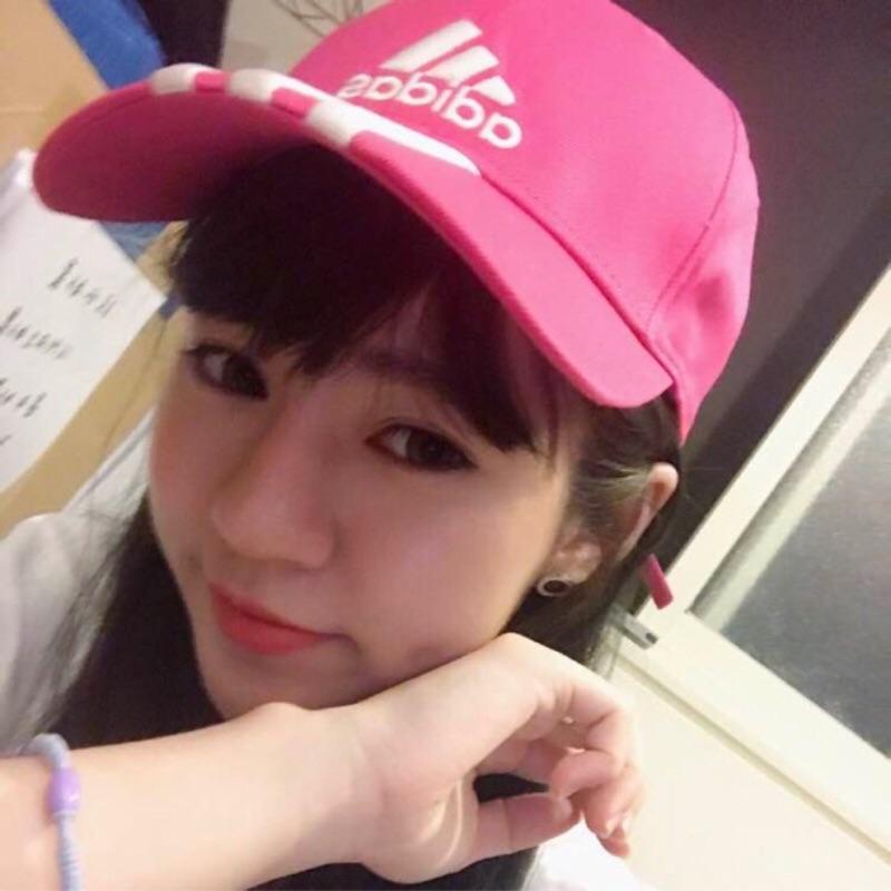 KS ▸5 折ADIDAS CAP LOGO 桃紅三線條棒球帽 帽老帽刺繡~AJ9223