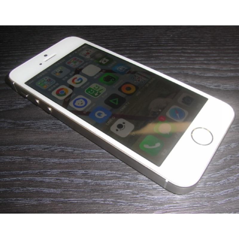 外觀9 成5 新iPhone 5S 32GB 香檳金 全原序號盒裝