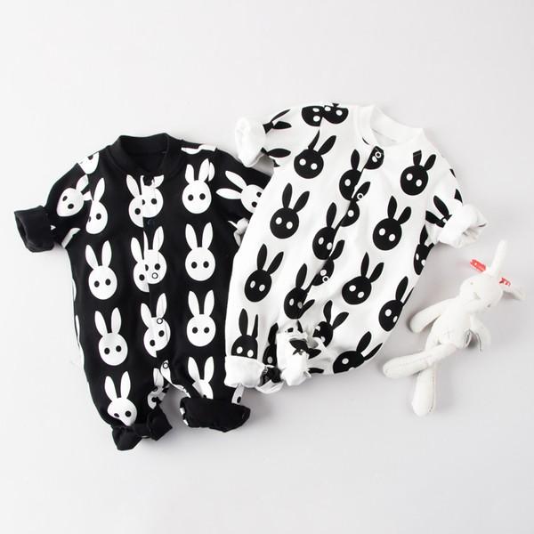 寶寶滿版兔子純棉長袖包屁衣上衣新生兒嬰兒兒童男童女童男寶女寶