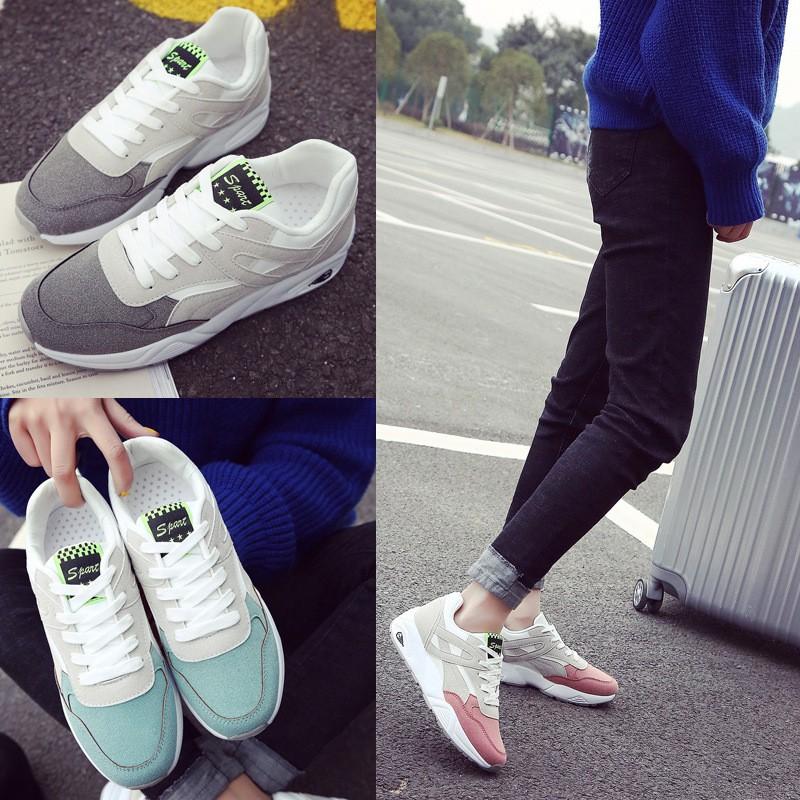 stylest ! 透氣 鞋女鞋百搭休閒鞋學生跑步鞋百搭 街拍女鞋馬卡龍色 鞋旅遊鞋