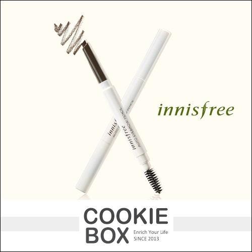 韓國innisfree 自然眉型雙頭旋轉眉筆眉刷多色咖啡黑棕彩妝0 3g 餅乾盒子