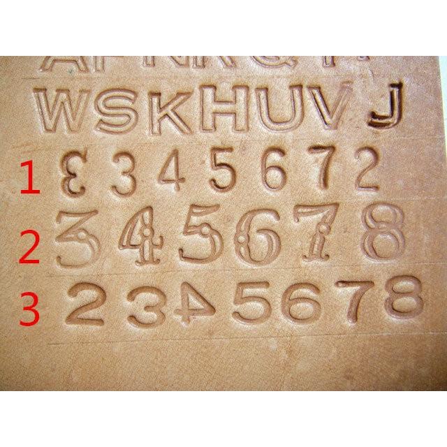老約翰皮雕數字打印工具數字印英文印打印套組印花工具皮雕材料皮雕diy