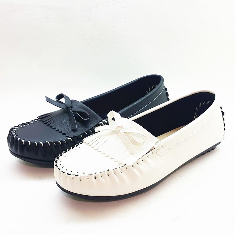 ~兔妮~ 蝴蝶結休閒鞋豆豆鞋懶人鞋