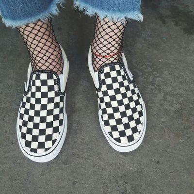 VANS 范斯棋盤格Slip On 懶人鞋棋盤格羅志祥小豬余文樂黑白格子帆布鞋休閒鞋滑板鞋