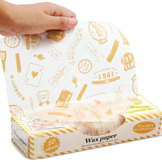 愛廚房St 郵票圖案食品包裝蠟紙包裝防油紙餅乾襯紙紙襯餐盤紙包裝紙I Kitchen
