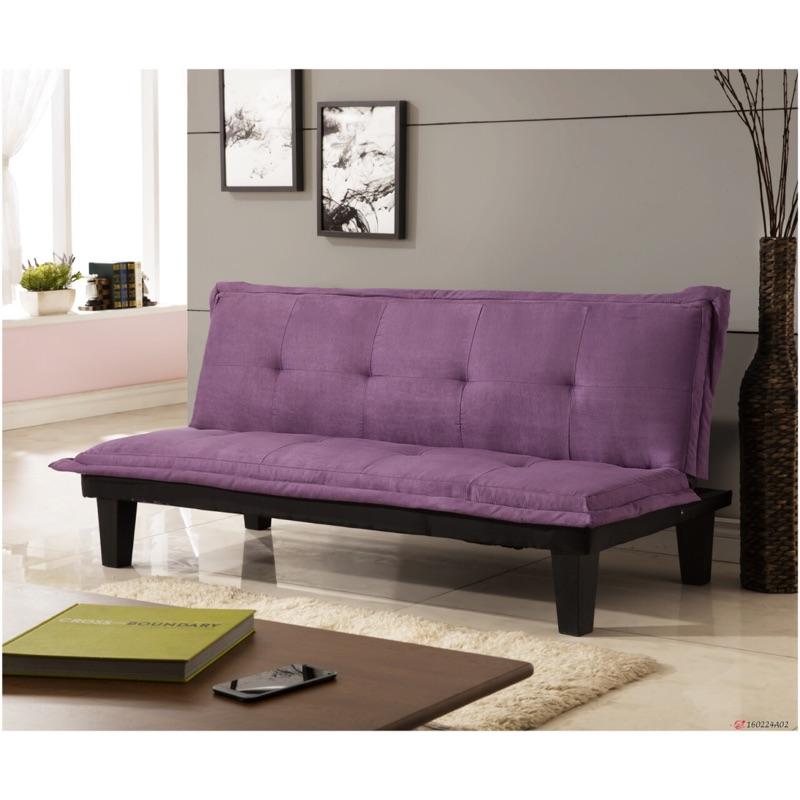 新 ~伊伍奺~紫色三人位沙發床沙發布沙發