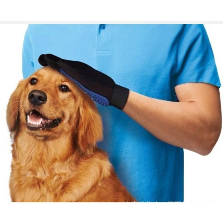 寵物退毛刷安撫手套按摩刷洗澡手套True touch 貓狗 清潔按摩刷除毛吸塵工