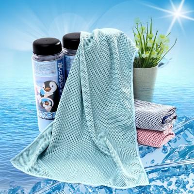 款AOKEE 魔幻冰涼巾男女冷感 冰毛巾100 冰感絲5 秒吸水防暑冰巾涼感毛巾