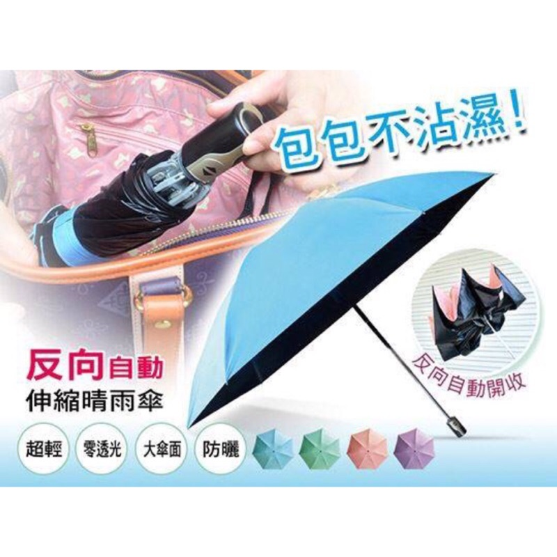 ~大傘面抗UV 反向自動伸縮晴雨傘~