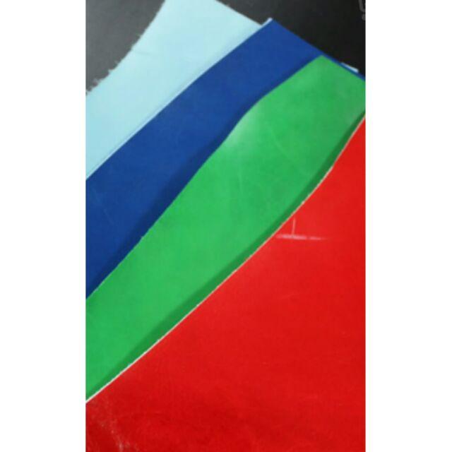 真皮牛皮植鞣皮頭層皮料邊角料碎皮 DIY 包鞋平紋大量 各種顏色