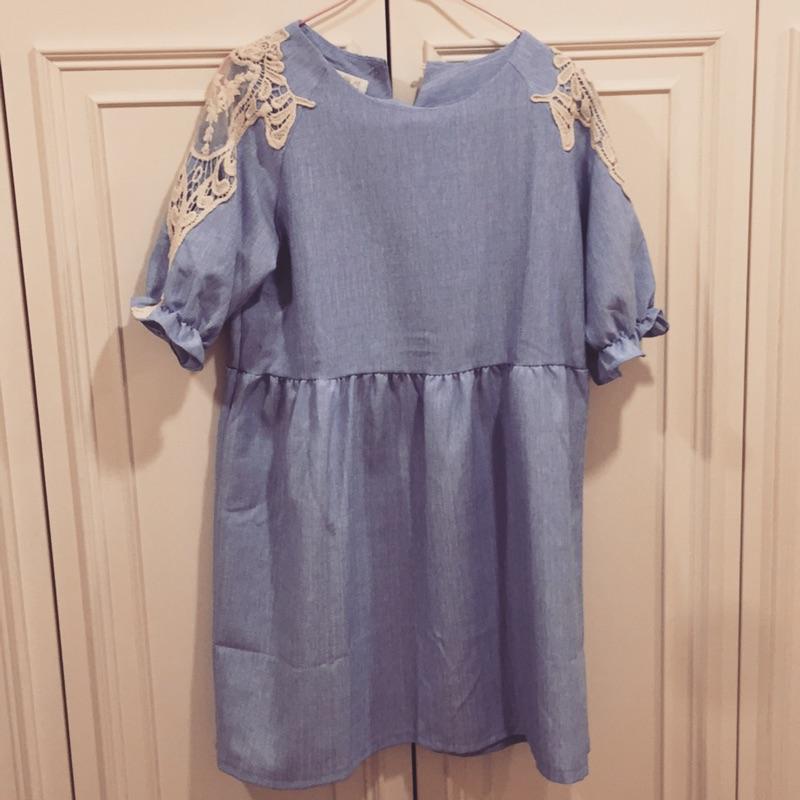 牛仔藍可愛孕婦洋裝