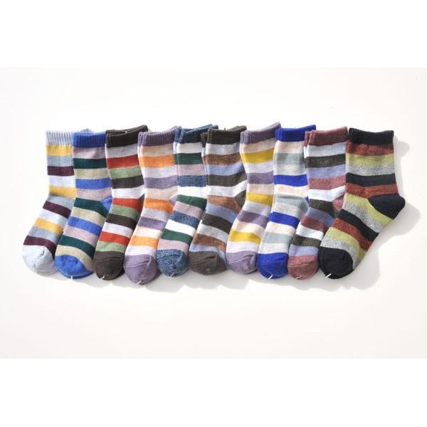 韓風童品3 雙組 出口羊毛棉質男童襪中童襪寶寶襪兒童中筒襪子條紋款兒童襪子