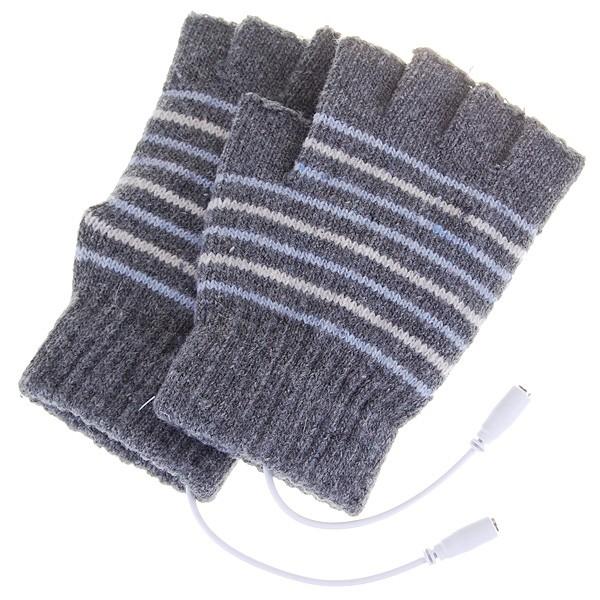 USB 暖手套灰色咖啡色