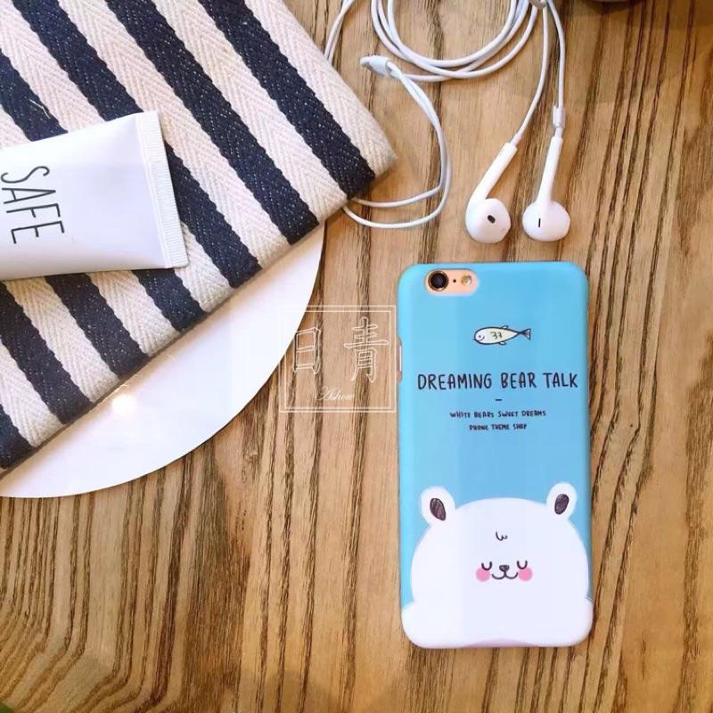 夢想水藍大白熊北極熊dream 硬殼i6s iphone 6 s plus