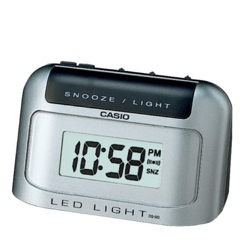 CASIO 卡西歐LED 照明、鬧鐘具有貪睡 電子鬧鐘DQ 582D 8 582 D
