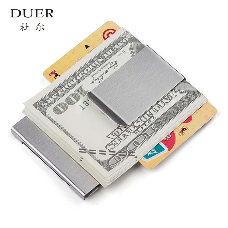 雙面雙用零錢鈔票夾金屬男士錢包錢夾女式大鈔夾票據小夾子